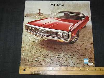 1971 Chrysler & Imperial Full Size Catalog Sales Brochure