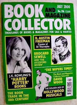 BOOK & MAGAZINE COLLECTOR Jul 2000 196 JK Rowling Wipers Times Brocard Sewell