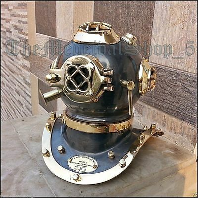 Gift Us Navy Mark Iv  Scuba Deep Sea Sca Divers Diving Helmet Decor