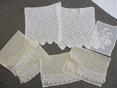 Job lot 5 Bundles White And Cream Lace Craft Sew  Lace Over 10 Metres