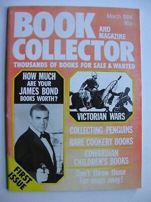 BOOK & MAGAZINE COLLECTOR March 1984 - First Issue James Bond, Cookery, Penguins
