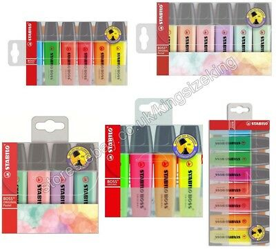 STABILO BOSS Highlighter Pens Wallet Chisel Tip 2.5mm Assorted Colour And Pastel