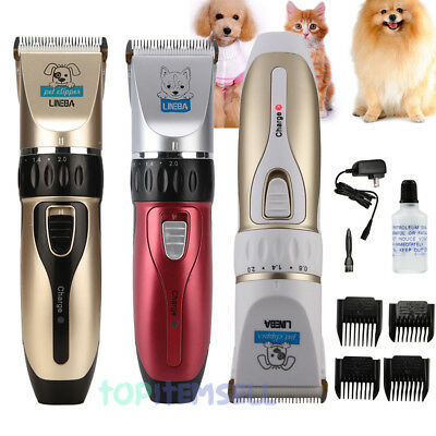 Professional Mute Set Pet Cat Dog Fur Hair Cordless Trimmer/Clipper/Shaver Kit
