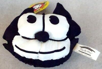 Rare Vintage Felix the Cat Plush Head with Suction Cup