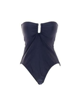 J Crew U-Front Bandeau One-Piece Bathing Suit Swimsuit G4790 Purple 4