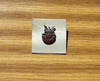 20 YEAR STERLING  AIR FORCE LAPEL PIN by CORO W/ RED ENAMEL & SCREWBACK