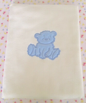 Wholesale Joblot 18 X Baby Fleece Blankets - Blue Fuzzy Bear