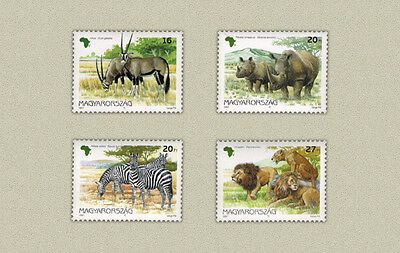Hungary 1997. Animals of Africa, zebra, Lion, etc. set Mi: 4450-4453 MNH **