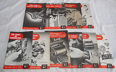 1949 1950 1951 Ford - 10 Original Ford Service Series Booklets - Collectors Item