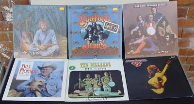 11 x LP  Country Joe / Gazette / Earl Scruggs / Willi Nelson / Dillards ect.