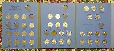 Canada Nickel Set 1922 - 1960 38 Different in Old Whitman Folder EX to UNC