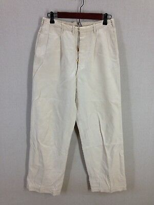 Vintage 1930s Palm Beach White Linen Suit Pants - 29x30 - Tailored in USA