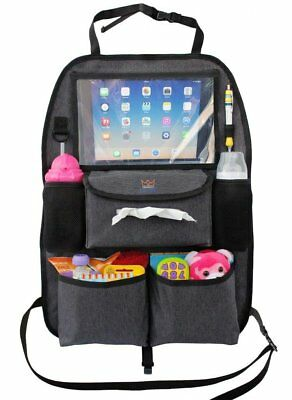 Car Seat Organizer for Kids Toys & Baby Wipes X-Large Tablet Holder NEW