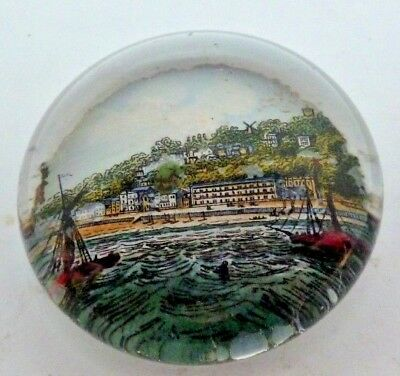 VICTORIAN GLASS PAPERWEIGHT OF VENTNOR ISLE of WIGHT
