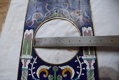 antique clock panel   porcelain  part