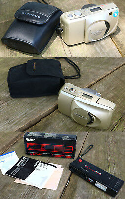 Mixed Lot of 3 Point & Shoot 35mm Film Cameras Clean Untested Film Inside