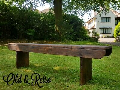 Lovely original Antique Vintage Old School church hall Bench pine wooden wood.