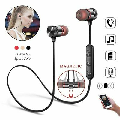 Sports Bluetooth Earbuds Wireless Headphones HiFi Stereo Headset Mic for iPhone