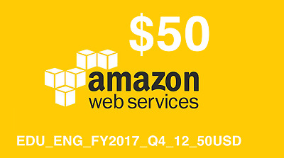 AWS $50 Amazon Web Services Promotional Credits