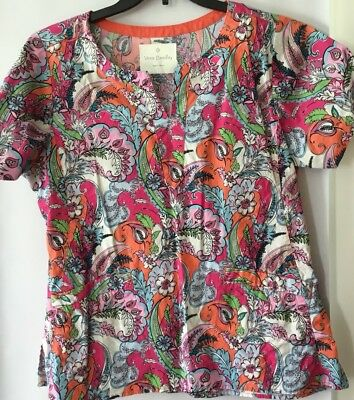 womans scrub tops Large