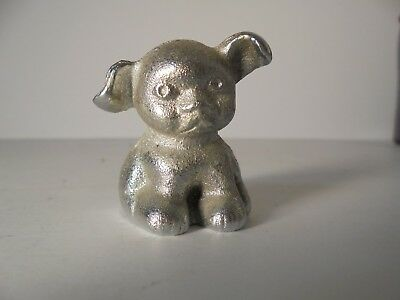 Vintage Cast Iron Advertising BUCKI CARBON RIBBONS PUP Dog Paperweight Griswold