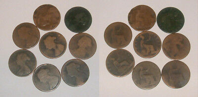 Great Britain/UK 1860-1901 Queen Victoria Bronze Half-Pennies - Select a date