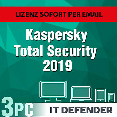 Kaspersky Total Security 2019 3 PC / Geräte 1Jahr /  Download / auch f. 2020
