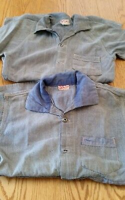Vintage Boys Chambray Play Suit Costume 1 Pc. 30's 40's Sears Chieftain Buttons