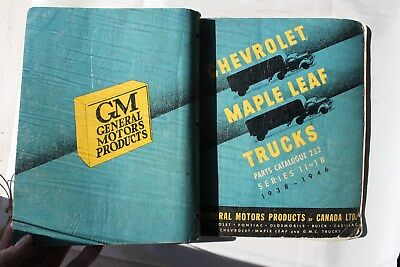 1938 GMC Maple Leaf Chevrolet truck part Catalog ORIGINAL COE cab-over 1940 1946