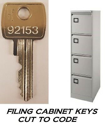 L&F Filing Cabinet Key keys CUT TO CODE FROM NUMBER ON LOCK OR KEY