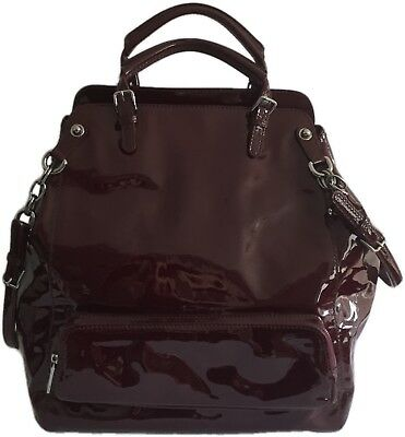 f724027149 ... official photos f37a1 8fcfd Dolce Gabbana Burgundy Patent Leather Miss  Pocket Tote Bag