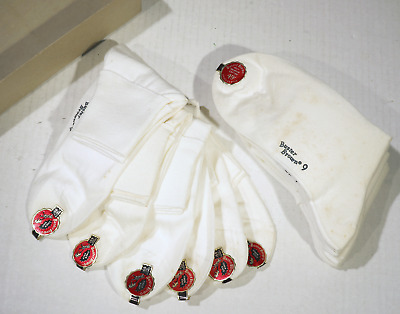 12 Vintage Buster Brown Toe To Crown Socks & Box 12 Pairs Size 9 White Style #99