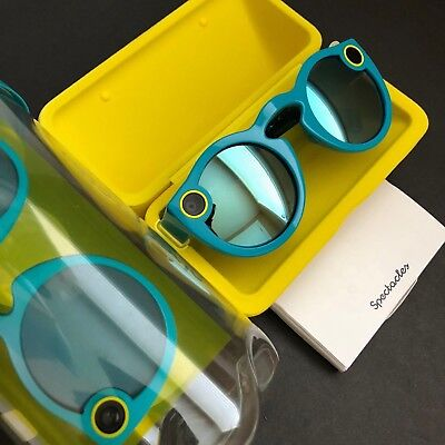 Snapchat Spectacles Sunglasses For Snapchat - 1st Gen. Teal Blue -  Record Snap