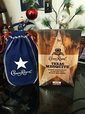 Crown Royal ,Texas Mesquite,  Collectible Box & Bag ( Read Description ) w/Grift