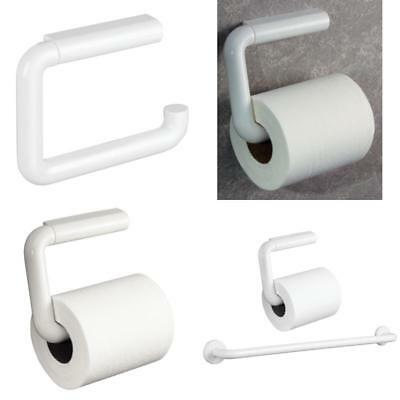 Wall Mount Toilet Paper Holder Bathroom Plastic Tissue Roll Storage