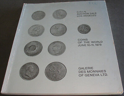 Vintage - Galerie Des Monnaies C.O.I.N. Auction 1978 Coins of the World Scarce