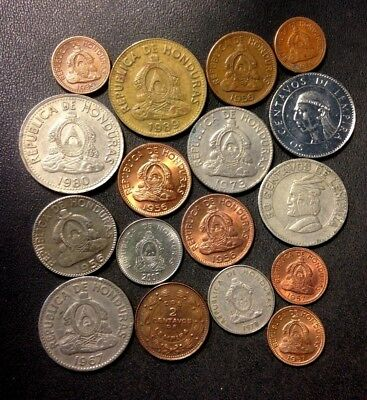 Old Honduras Coin Lot - 1939-Present - 17 Great Coins - Lot #522