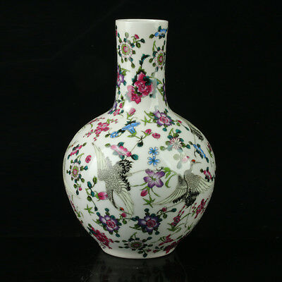 China Pastel Porcelain Hand Painted Vase Mark As The Qianlong R1082