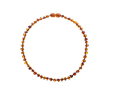 New Authentic Balt Wonder Baltic Amber Teething Necklace For Babies Cognac