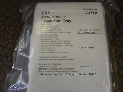 LSL # 7471A Laceration Tray Sterile with Instruments 1pc