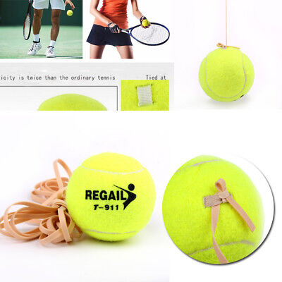 Sports Tennis Ball With Elastic Rubber Rope Beginners Trainer Single Train Tool