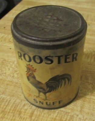 Rare Vintage Advertising Sealed Rooster Snuff Tin Pure Scotch Tc-161-1 Tenn