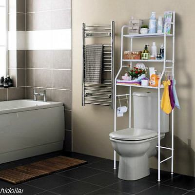 Over Toilet Bathroom Storage Rack Shelf Storage Unit 3Tier Bathroom Organizer