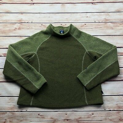 Kuhl Youth Green Fleece Pullover Sweater Size Large