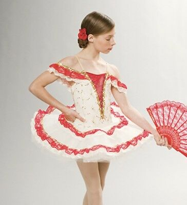 Revolution Dancewear 087 PAQUITA Dance Costume Leotard Size MC