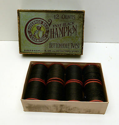 Vintage Buttonhole Thread Gudebrod Bros Champion Advertising