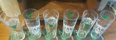Matilda Bay Fat Wild Lazy Yak Ales Beer Glasses, Matching Coasters (set of 6)NEW