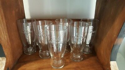 Carlton Draught Exclusive Beer Glasses, Hotel grade Schooner NEW, (6 pack)