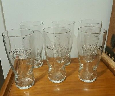 Carlton Draught Exclusive Beer Glasses, Hotel grade PINT 568ML NEW, (6 pack)