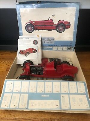 Pocher 1/8 scale Alfa Romeo 8C 2300 Monza K71 1931 Model Car Kit Started